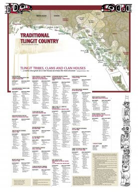 Tlingit tribes, clans and clan houses list.