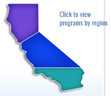 north, central, and southern california regions separated according to Indian Health Service